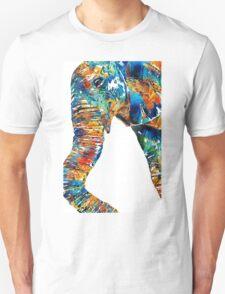 Colorful Elephant Art by Sharon Cummings Unisex T-Shirt