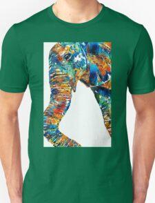 Colorful Elephant Art by Sharon Cummings T-Shirt