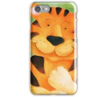Whimsical tiger painting iPhone Case/Skin