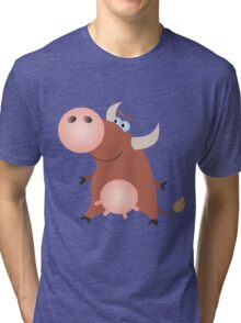 Friendly little cow Tri-blend T-Shirt