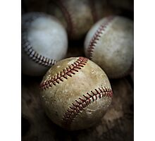Old Baseball Photographic Print