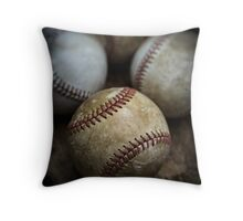 Old Baseball Throw Pillow