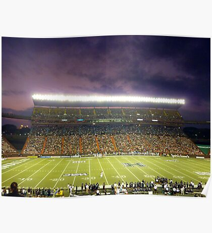 Aloha Stadium at Night Poster
