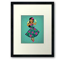 Girl of Adventure Framed Print