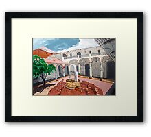 Patio Colonial Framed Print