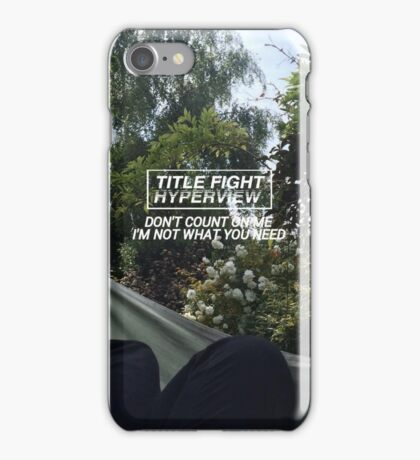 title fight - liar's love iPhone Case/Skin