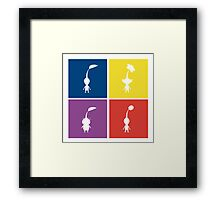 Pikmin Blocks Framed Print