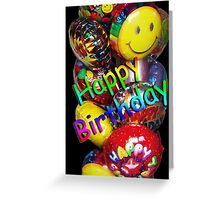 Balloons Happy Birthday Card Greeting Card