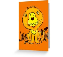 Cute Little Lion graphic drawing Greeting Card