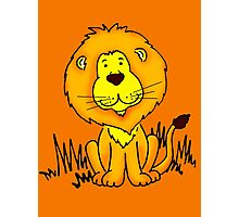 Cute Little Lion graphic drawing Photographic Print