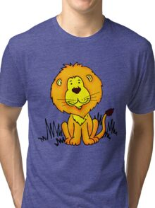 Cute Little Lion graphic drawing Tri-blend T-Shirt