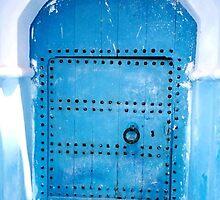 Blue Moroccan door by fionapine