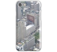 Aerial View of  Lower Manhattan, City Hall Park, from One World Observatory, World Trade Center Observation Deck, New York City  iPhone Case/Skin