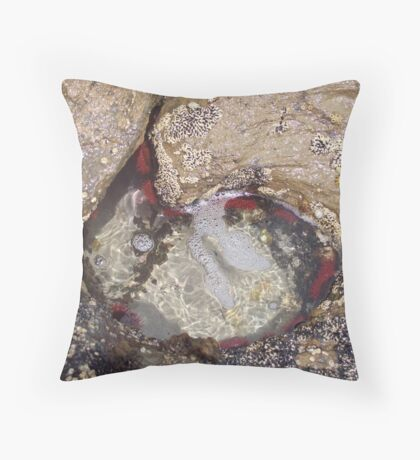 Rock Pools along the Coast of Australia Throw Pillow