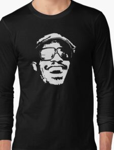 stencil Stevie Wonder Long Sleeve T-Shirt