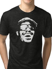stencil Stevie Wonder Tri-blend T-Shirt