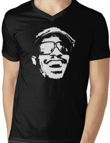 stencil Stevie Wonder Mens V-Neck T-Shirt