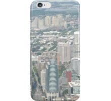 Aerial View of  Jersey City, New Jersey, from One World Observatory, World Trade Center Observation Deck, New York City  iPhone Case/Skin