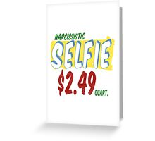 Narcissistic Selfie Supermarket Greeting Card