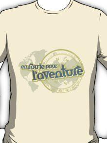 en route pour l'aventure travel map T-Shirt