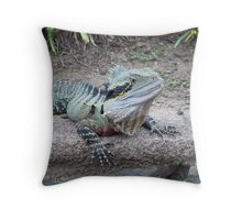 Australian Eastern Water Dragon - South East Queensland Throw Pillow