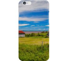 Old Barns at Burnthead Cove, Nova Scotia iPhone Case/Skin