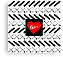 Love Arrows  Canvas Print