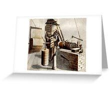 The Earthquake Measurer. Greeting Card