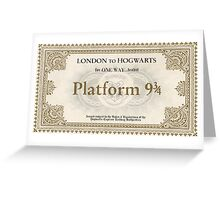 Hogwarts Express Ticket Greeting Card