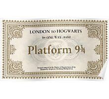 Hogwarts Express Ticket Poster