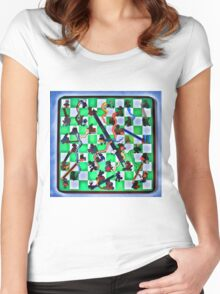 Ghostly Snake Game Women's Fitted Scoop T-Shirt