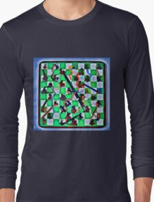 Ghostly Snake Game Long Sleeve T-Shirt