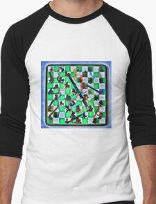 Ghostly Snake Game Men's Baseball ¾ T-Shirt