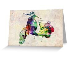 Vespa Scooter Urban Art Greeting Card