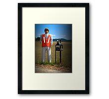 Man/Dog Letterbox Framed Print
