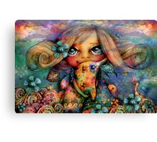 Dolphin Hugs Canvas Print