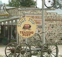 Stage Coach Trading Post Sign at Custer. by Mywildscapepics