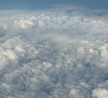 cloudscape from the plane Sticker