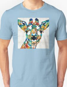 Colorful Giraffe Art - Curious - By Sharon Cummings Unisex T-Shirt