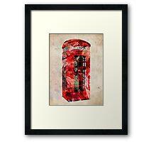 London Telephone Box Urban Art Framed Print