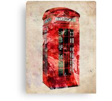 London Telephone Box Urban Art Canvas Print