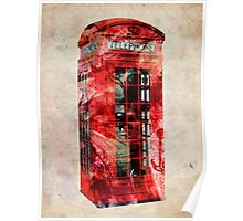 London Telephone Box Urban Art Poster