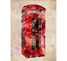 London Telephone Box Urban Art Photographic Print
