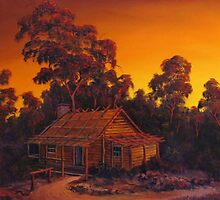 The Pioneers Log Cabin by John Cocoris