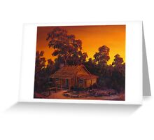 The Pioneers Log Cabin Greeting Card