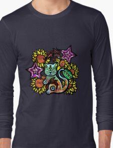 China Cat Sunflower Long Sleeve T-Shirt