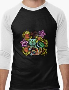 China Cat Sunflower Men's Baseball ¾ T-Shirt