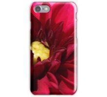 Red Dahlia Macro  iPhone Case/Skin