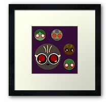 minimalistic chibi guardians:  the experiement Framed Print