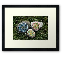 Rock Face Sculpture Framed Print